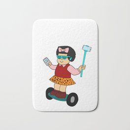 """Cute and unique girl in a board. Grab this fabulous """"Sluggo Is Lit"""" tee design. Awesome gift too!  Bath Mat"""