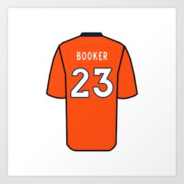 Devontae Booker Jersey Art Print