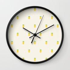 Pineapple Pattern Cross Stitch Wall Clock