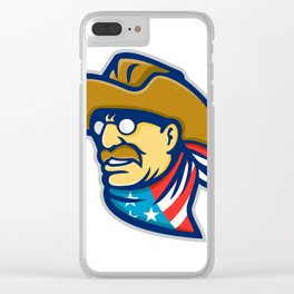 Theodore Roosevelt Jr Mascot Clear iPhone Case