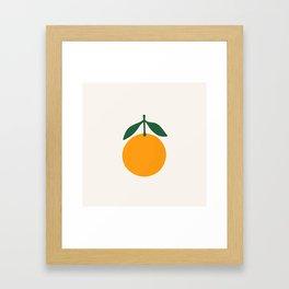 Orange Summer Citrus Framed Art Print