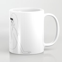 Beach Lady with Sunglasses Coffee Mug