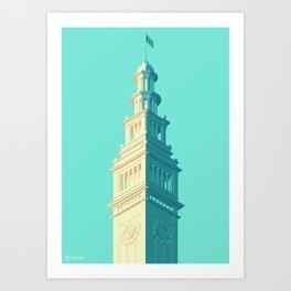 San Francisco Towers - 03 - Ferry Building Art Print