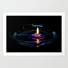 Water candle Art Print