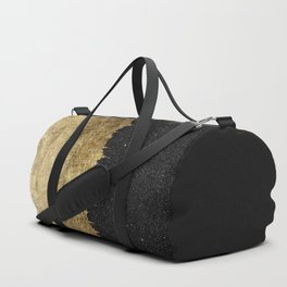 Faux Gold and Black Starry Night Brushstrokes Duffle Bag