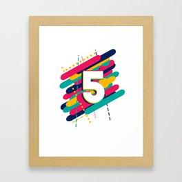 Kids 5th Birthday 5th Anniversary 5th Celebration Party Framed Art Print