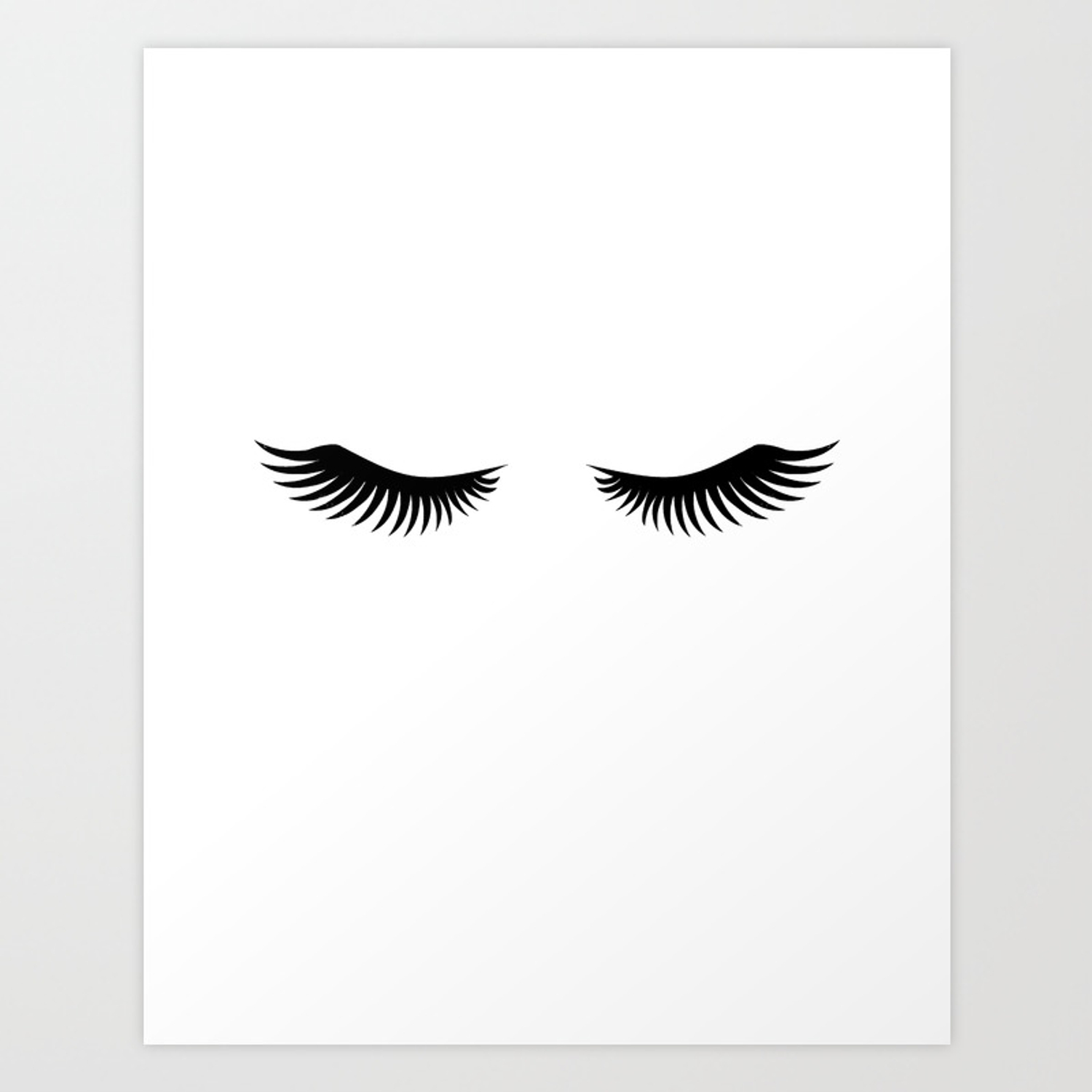 Eyelashes Print,Makeup Poster,Bathroom Decor,Girls Room Decor,Girls Bedroom  Decor,Home Decor Art Print by alextypography