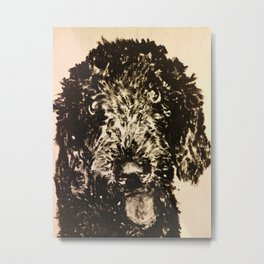Stella the Poodle Metal Print