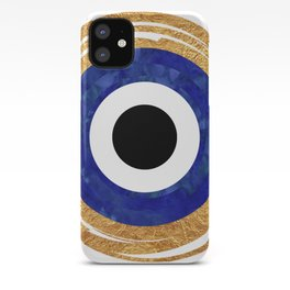Modern Evil Eye Medallion iPhone Case