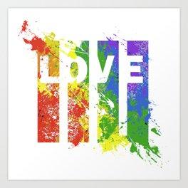 LOVE/COLOR Art Print