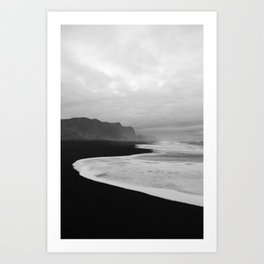 Black Sand Beach of Vik Iceland Art Print