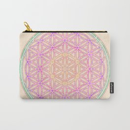 Sacred Geometry Pastels Carry-All Pouch