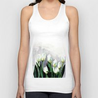 tulips Tank Tops featuring Tulips by Bridget Davidson