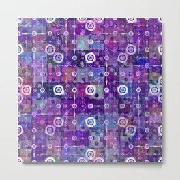 Purple Celestial Quilt Metal Print