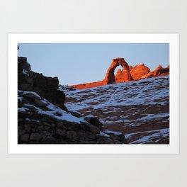 Delicate Arch in Winter Art Print