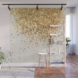 Sparkling Gold Glitter Glam #2 #shiny #decor #art #society6 Wall Mural