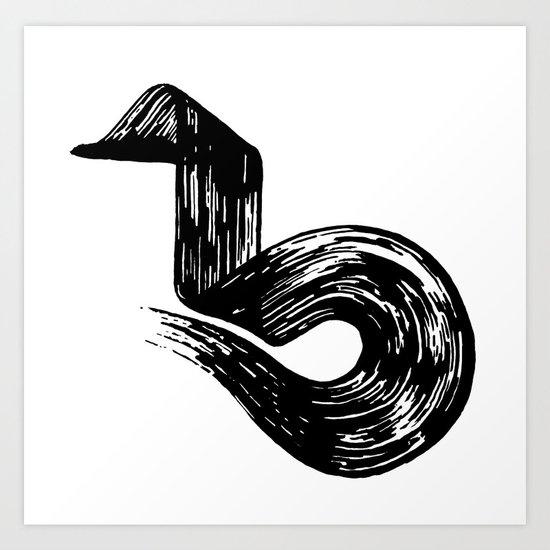 Swipe Art Print