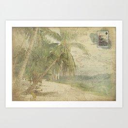 Postcard From The Tropics Art Print