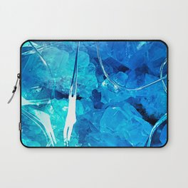 Crystal Blue Lights Laptop Sleeve