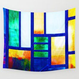 Art Deco Colorful Stained Glass Wall Tapestry