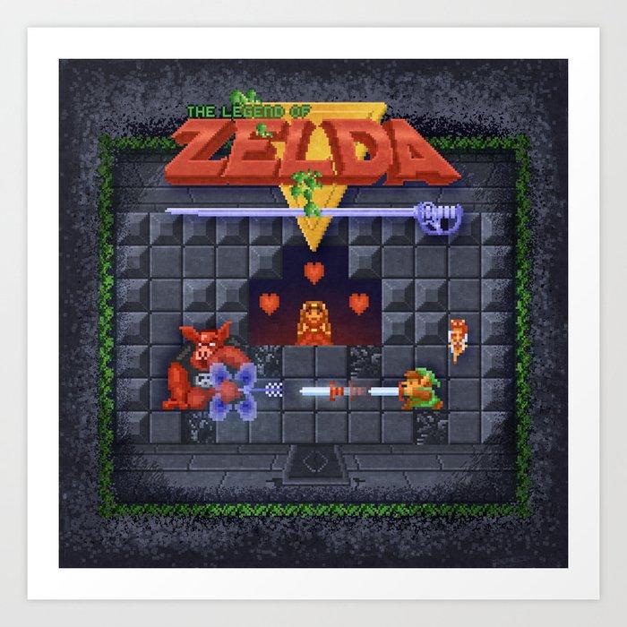 The Zelda of Legend Art Print