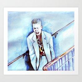 David Bowie as Agent Jeffries Art Print