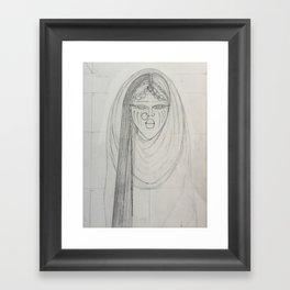 One of nine, she is Nara Framed Art Print