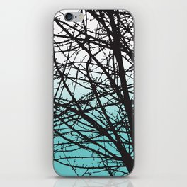tree blue and white ombre iPhone Skin