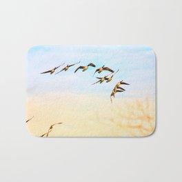 Canadian Geese Art Decor. Bath Mat