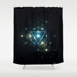 Timeblind Shower Curtain