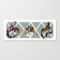 dragons Canvas Prints featuring Dragons by Royalisk