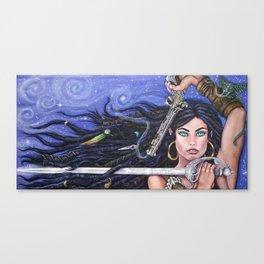 Priscilla the Peace Keeper by DeeDee Draz Canvas Print
