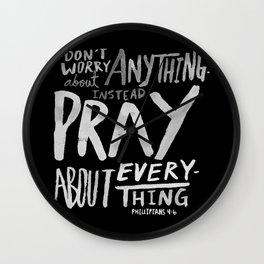 Pray II Wall Clock