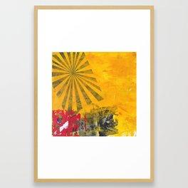 YELLOW SUNBURST Framed Art Print