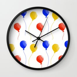 Primary Colors Balloons Wall Clock