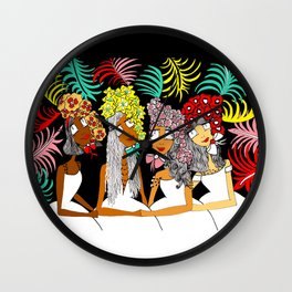 Sisters of a Feather Flock Together Wall Clock