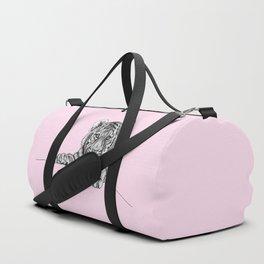 Amur tiger cub - pink Duffle Bag