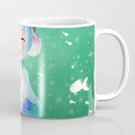 Smile and Hearts Twintail Girl Coffee Mug