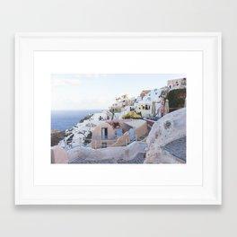 Dusk in Santorini, Greece Framed Art Print