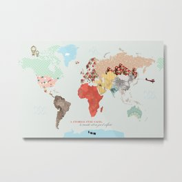 World map - le monde est un jeu d'enfant Metal Print