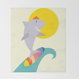 sea shark Throw Blanket