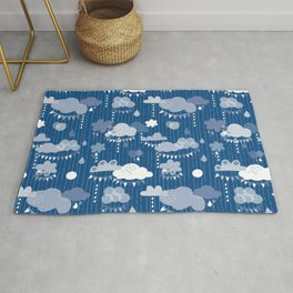 Party Clouds Clasic Blue Rug