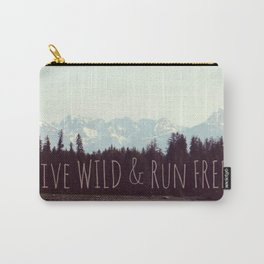Wild & Free | Mountain Landscape Nature photograph Carry-All Pouch