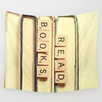 books Wall Tapestries featuring Read Books by Olivia Joy StClaire
