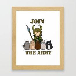 Cat Army Framed Art Print