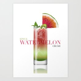 Kiwi and Watermelon crush Art Print