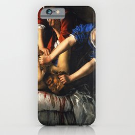 Judith Beheading Holofernes - Artemisia Gentileschi iPhone Case