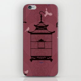 Rasberry Empty Brid Cages iPhone Skin