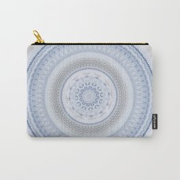 Elegant Blue Silver China Inspired Mandala Carry-All Pouch