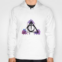deathly hallows Hoodies featuring The Deathly Hallows by AliceInWonderbookland